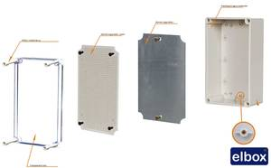 Plastic enclosure and electronic box with transparent cover 75X125X100mm