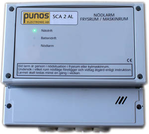 Man in cold room alarm SCA 2 AL, two separate relays