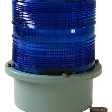 Blue flashing light 230V large