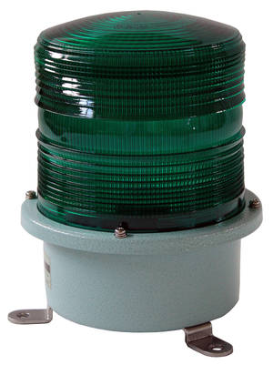 Green flashing light 230V large