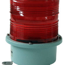 Red flashing light 230V large