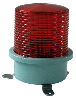 Red flashing light 230V medium