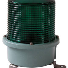 Green flashing light 230V medium