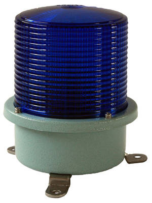 Blue flashing light 230V medium