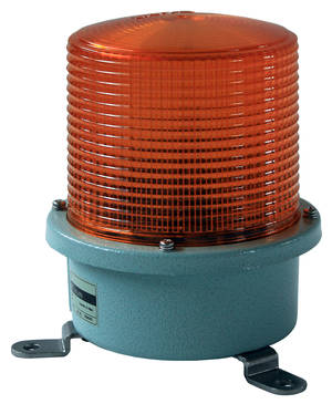 Orange flashing light 230V medium