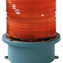 Orange flashing light 230V large